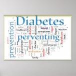 Diabetes Preventing Blue Poster