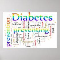 Diabetes Preventing Rainbow Poster