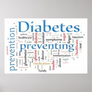 Diabetes que previene el azul póster