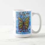 Diabetes Rainbow Butterfly and Poem Cups or Mugs