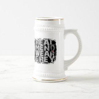 Diabetes Real Men Wear Grey 18 Oz Beer Stein