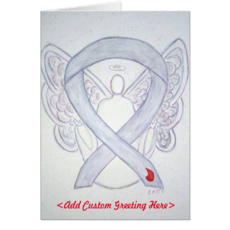 Diabetes Ribbon Angel Greeting Card