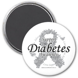 Diabetes Ribbon of Butterflies Magnet