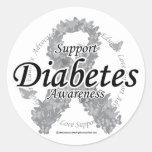Diabetes Ribbon of Butterflies Sticker