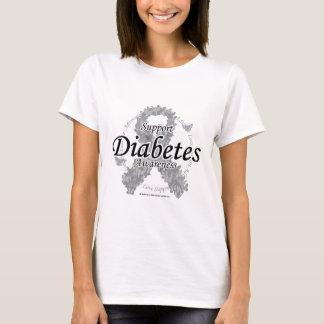 Diabetes Ribbon of Butterflies T-Shirt