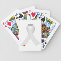diabetes ribbon with blood drop bicycle playing cards