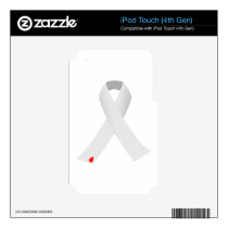 diabetes ribbon with blood drop decal for iPod touch 4G