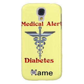 Diabetes Rod de plata alerta médico y serpientes Funda Para Galaxy S4