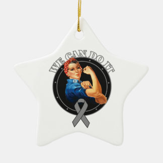 Diabetes - Rosie The Riveter - We Can Do It Double-Sided Star Ceramic Christmas Ornament