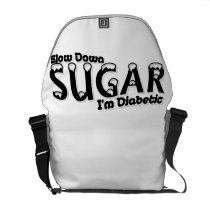 Diabetes Slow Down Sugar I'm Diabetic Courier Bag