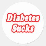 Diabetes Sucks Classic Round Sticker