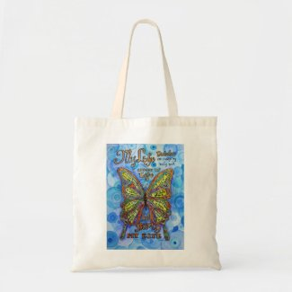 Diabetes Support Rainbow Butterfly Tote Bag