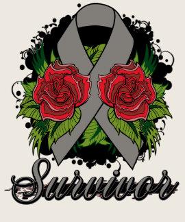 Diabetes Survivor Rose Grunge Tattoo Shirts