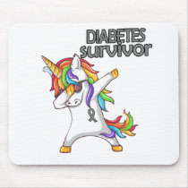 DIABETES Survivor Stand-Fight-Win Mouse Pad