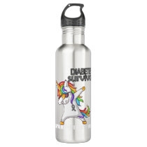 DIABETES Survivor Stand-Fight-Win Stainless Steel Water Bottle
