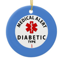 DIABETES TYPE 1 CERAMIC ORNAMENT