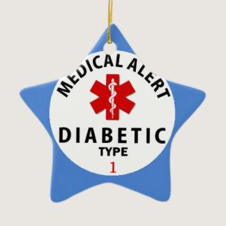 DIABETES TYPE 1 CERAMIC ORNAMENT