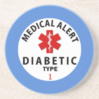 DIABETES TYPE 1 DRINK COASTER