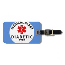 DIABETES TYPE 1 LUGGAGE TAG