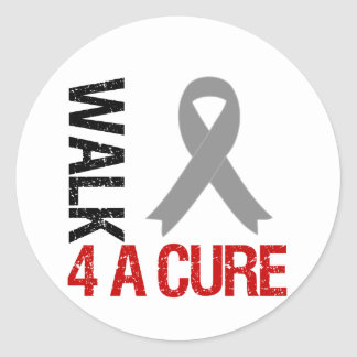 Diabetes Walk 4 A Cure Ribbon Classic Round Sticker