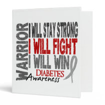 Diabetes Warrior 3 Ring Binder
