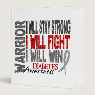 Diabetes Warrior 3 Ring Binder
