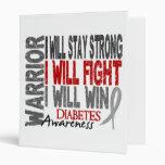 Diabetes Warrior 3 Ring Binders