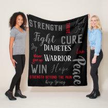 Diabetes Warrior blanket