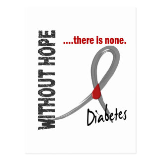 Diabetes Without Hope 1 Postcard