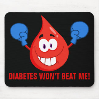Diabetes Won't Beat Me Mouse Pad