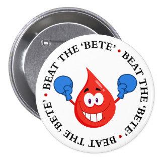 Diabetes Won't Beat Me Pinback Button
