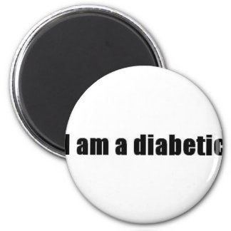 Diabetic 2 Inch Round Magnet