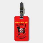 Diabetic Alert Dog ID Luggage Tags