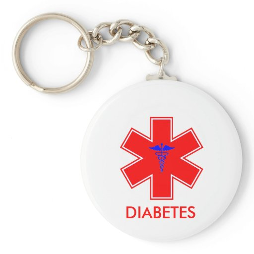 Diabetic Alert - Keychain / Tag - Basic
