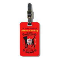 Diabetic Alert Personalized Dog ID Luggage Tag