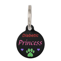 Diabetic Alert Princess Custom Pet Tag