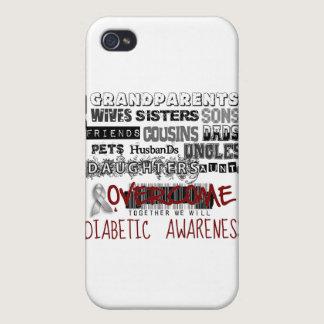 DIABETIC AWARENESS iPhone 4 CASE