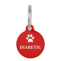 """""""DIABETIC"""" Awareness Pet Tag"""