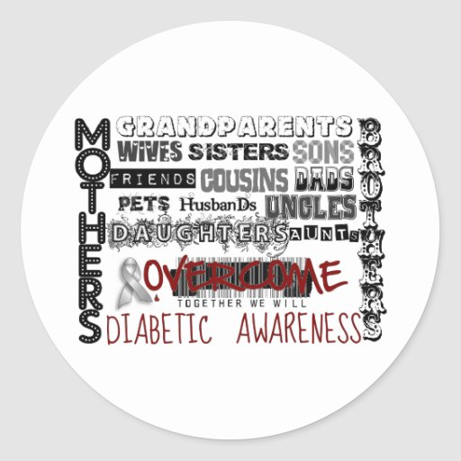 DIABETIC AWARENESS STICKERS