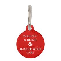 Diabetic & Blind Alert Pet Tag