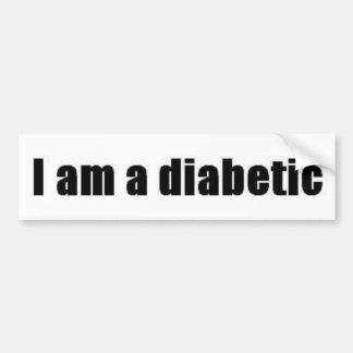 Diabetic Bumper Sticker