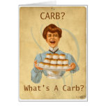 Diabetic Carb Diet Funny Greeting Card
