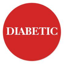 DIABETIC CLASSIC ROUND STICKER