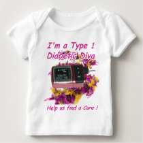 Diabetic Diva Baby T-Shirt
