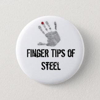 diabetic, Finger Tips of Steel Pinback Button