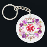 """Diabetic Floral Medical Alert  Type 1 Keychain<br><div class=""""desc"""">A beautiful Diabetes Medical Alert Type 1 or 2 .Floral key ring. Just fill in the name and diabetic type in the name and type fields to personalize. This Medical alert will give you a sense of security knowing that even if you are unable too, this medical alert can let...</div>"""