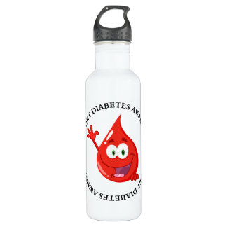Diabetic Introduction Stainless Steel Water Bottle