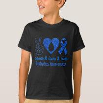 Diabetic love cure blue Diabetes Awareness T-Shirt
