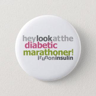 Diabetic Marathoner - I Run On Insulin Button