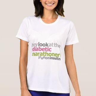 Diabetic Marathoner - I Run On Insulin T Shirt